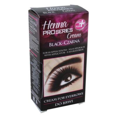 VRN0015DRKZ Henna-krémfesték szemöldök és szempillához fekete