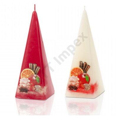 BRT3671GYKA Díszgyertya piramis 150mm Christmas Time