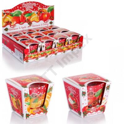 BRT4020GYPO Bartek poharas gyertya 115 gr Christmas Spices 12db/cs