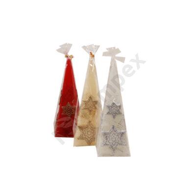 BRT6968GYKA Díszgyertya piramis 50x150 Karácsonyi csillag