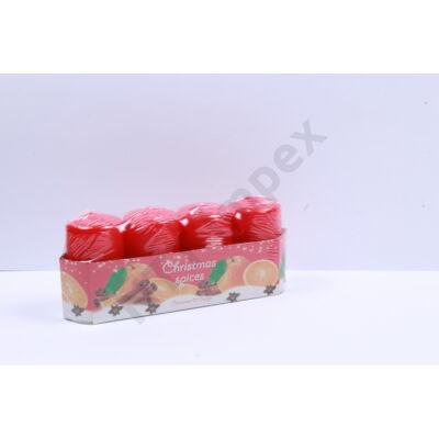 BRT8388GYKA ADVENTI Gyertya 40x70mm Christmas Spices Narancs-Fahéj