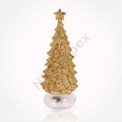 HKC6636LDLK Fehér/arany színú karácsonyfa 13cm