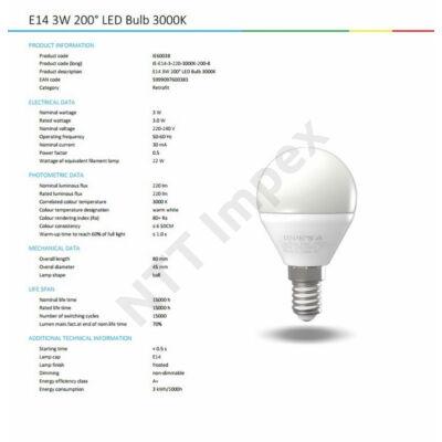 INS0038VILI E14 3W  220Lm 3000K B