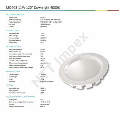 INS0218VILL Downlighter 11W 900lm 3000/4000/5700K
