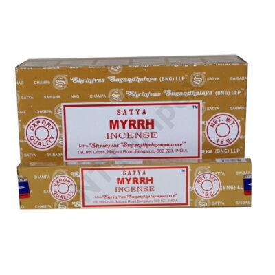 STY0134FSLD Satya Füstölő 12db/dob.MYRRH